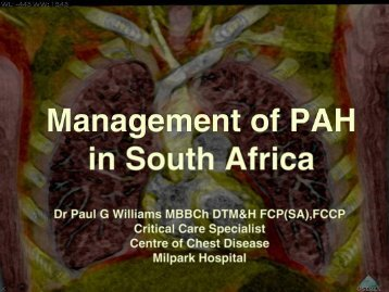 Paul Williams Pulmonary arterial hypertension management in the ...