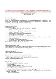 Biochimica clinica e biologia molecolare clinica - Medicina e Chirurgia