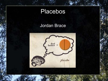 Placebos - JBrace - PageOut