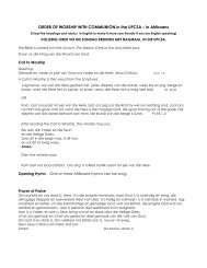A complete Order for Sunday worship in Afrikaans. - Centurion West ...