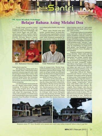 PP. Nurur Riyadhah Probolinggo: Belajar Bahasa ... - Kemenag Jatim