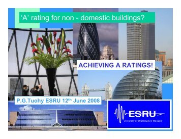 How to achieve an A rating - Scottish Energy Systems Group