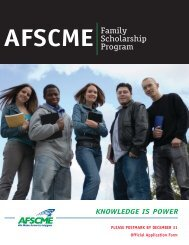 Applicant's - AFSCME