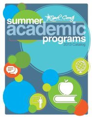Summer Academic Programs 2013 - York County Schools
