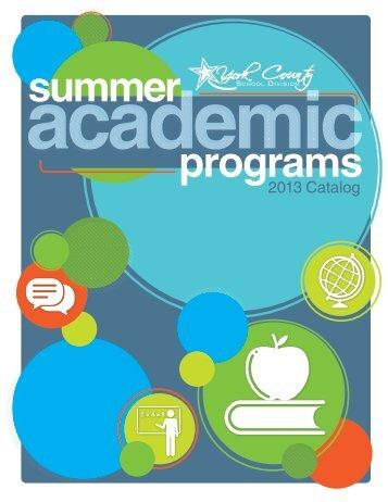 Summer Academic Programs 2013 - York County Schools