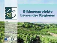 Bildungsprojekte Lernender Regionen - LEADER Region ...