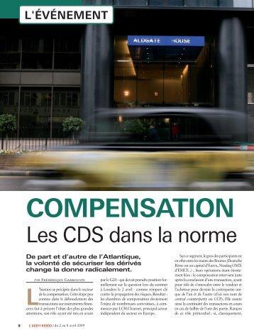 Les CDS dans la norme - First Finance
