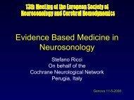 Evidence Based Medicine in Neurosonology - Cochrane ...