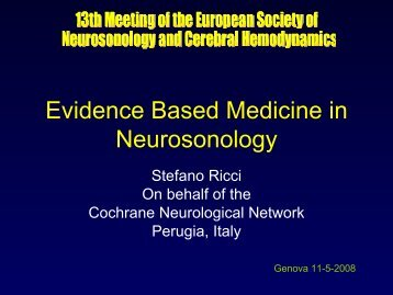 Evidence Based Medicine in Neurosonology - Cochrane ...