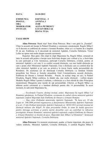 alina petrescu invitaţi - Camera Deputatilor