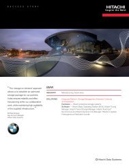 BMW Manages Massive Data Growth with ... - Hitachi Data Systems