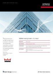 DORMA Holding GmbH + Co. KGaA - Hitachi Data Systems