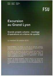 Excursion au Grand Lyon