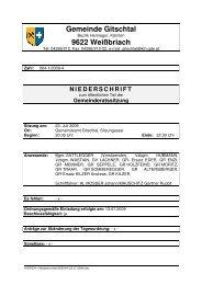 Gemeinde Gitschtal 9622 Weißbriach - Gitschtaler.at