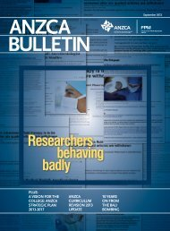 ANZCA Bulletin – September edition - Australian and New Zealand ...