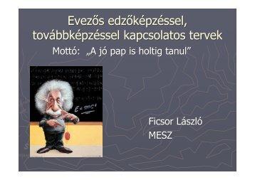 Edző továbbképzéssel kapcsolatos elképzelések - Ficsor László