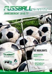 Jahresbericht 2010/11 - W.Schmidt Fußballakademie SV Ried