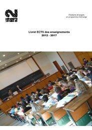 Guide des cours 2012-2013 - Université Rennes 2