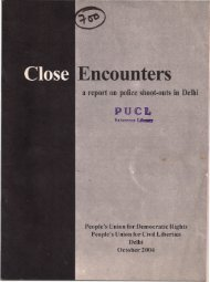 Close encounters - A report on police shoot-outs in Delhi, Oct., 2004