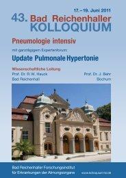 Update Lunge – Umwelt – Arbeit 15. – 17. Juni 2012 - Intercongress