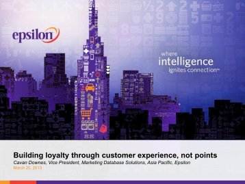 Building loyalty through customer experience, not points - Epsilon