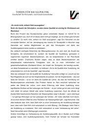 Pressemitteilung des VfS zum Vortrag von Eric A. Hanushek