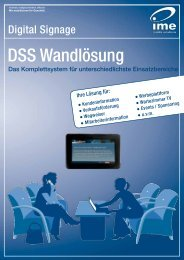 DSS Wandlösung - ime mobile solutions GmbH