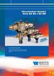 Disconnettori idraulici serie BA BS e BA BM - WATTS industries