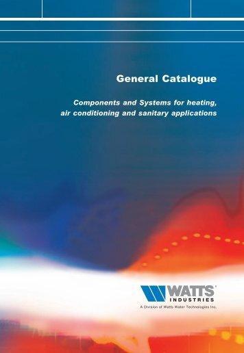General Catalogue - WATTS industries