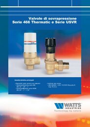 Valvole di sovrapressione Serie 466 Thermatic e ... - WATTS industries