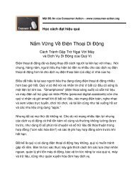 Cell Phone Savvy (Vietnamese) - Consumer Action