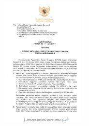Surat Edaran Menteri Keuangan Nomor SE-01/MK.2 Tahun 2011 ...