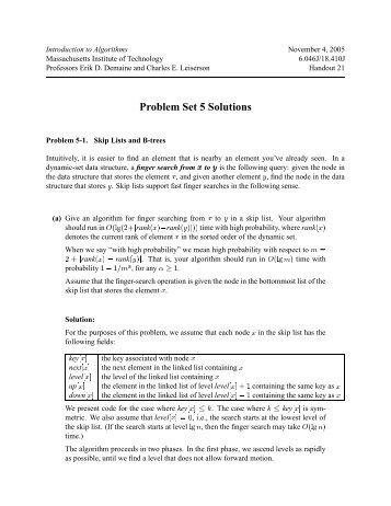 Problem Set 5 Solutions