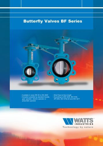Butterfly Valves BF Series - WATTS industries