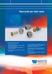 Raccordi per tubi Rame - WATTS industries