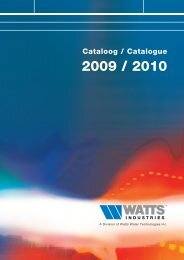 082377 WATTS CATALOOG COVER ENKEL - WATTS industries