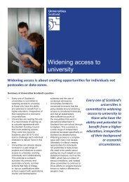 Widening access to university - Universities Scotland