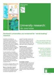 University research: - Universities Scotland