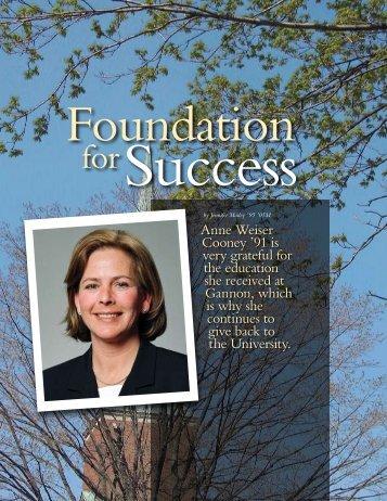 Anne Weiser Cooney - Gannon University