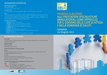 priorità di accesso alle prestazioni specialistiche ambulatoriali come ...