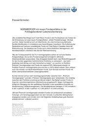 Presseinformation NÜRNBERGER mit neuen Fondsportfolios in der ...