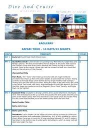 EAGLERAY SAFARI TOUR – 14 DAYS/13 NIGHTS