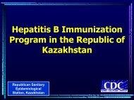 Hepatitis B Immunization Program in the Republic of Kazakhstan