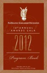 Program Book - PanHellenic Scholarship Foundation