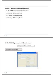 Chapter 2: Geometry Modeling and CAD Tools 2-1.The FEMLAB ...