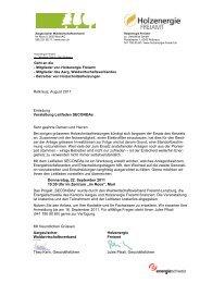 Rotkreuz, August 2011 Einladung Vorstellung Leitfaden ... - AWV
