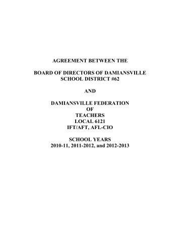 Teacher Contract 2010-13 - Damiansville Elementary School