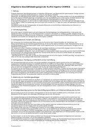 Allgemeine Geschäftsbedingungen der Au-Pair Agentur CHANCE