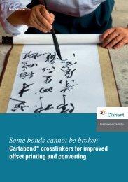Cartabond® crosslinkers - Clariant