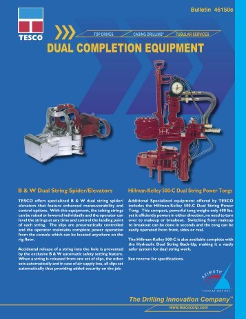 46150e Dual Completion Equipment.indd - TESCO Corporation